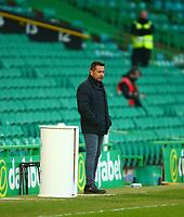 21st April 2021; Celtic Park, Glasgow, Scotland; Scottish Womens Premier League, Celtic versus Rangers; Celtic Womens Manager Fran Alonso watches from the touchline