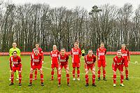 Team picture Standard ( Goalkeeper Lisa Lichtfus (16) of Standard , Maurane Marinucci (7) of Standard , Gwyneth Vanaenrode (3) of Standard , Sylke Calleeuw (9) of Standard , Aster Janssens (5) of Standard , Constance Brackman (20) of Standard and Lola Wajnblum (11) of Standard , Noemie Gelders (10) of Standard , Charlotte Cranshoff (18) of Standard , Elien Nelissen (15) of Standard , Davinia Vanmechelen (25) of Standard ) before a female soccer game between Standard Femina de Liege and Eendracht Aalst on the 12 th matchday of the 2020 - 2021 season of Belgian Scooore Womens Super League , saturday 30 th of January 2021 in Angleur , Belgium . PHOTO SPORTPIX.BE   SPP   STIJN AUDOOREN
