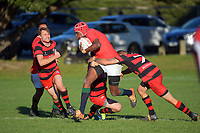 Action from the Wellington Under-85 club rugby match between Poneke and MSP at Kilbirnie Park in Wellington, New Zealand on Saturday, 15 May 2021. Photo: Dave Lintott / lintottphoto.co.nz