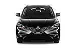 Car photography straight front view of a 2018 Renault Grand Scenic initiale paris 5 Door Mini Van