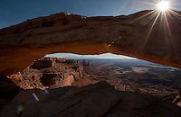 Canyonlands NP Utah. I hate that I didn't have time to shoot this at sunrise, when it's truly magnificent-- all the best shots of it are at taken at dawn.