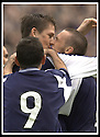 28/9/02       Copyright Pic : James Stewart                     .File Name : stewart-falkirk v st j'stone 22.KEVIN JAMES GETS A KISS FROM LEE MILLER  AFTER SCORING THE LATE WINNER.....James Stewart Photo Agency, 19 Carronlea Drive, Falkirk. FK2 8DN      Vat Reg No. 607 6932 25.Office : +44 (0)1324 570906     .Mobile : + 44 (0)7721 416997.Fax     :  +44 (0)1324 570906.E-mail : jim@jspa.co.uk.If you require further information then contact Jim Stewart on any of the numbers above.........