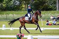 AUS-Sophie Adams rides Ridire Dorcha during the Dressage for the CCIO-S 4* Section D. 2021 GBR-Saracen Horse Feeds Houghton International Horse Trials. Hougton Hall. Norfolk. England. Friday 28 May 2021. Copyright Photo: Libby Law Photography