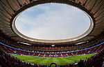Wanda Metropolitano is seen prior to the UEFA Champions League 2017-18 match between Atletico de Madrid and Chelsea FC on 27 September 2017, in Madrid, Spain. Photo by Diego Gonzalez / Power Sport Images