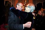 GIUSEPPE AYALA CON VITTORIO SGARBI<br /> FESTA DI PRESENTAZIONE DEL CALENDARIO DI MEO -  <br /> PALAZZO KADIRI  MARRAKECH 2010