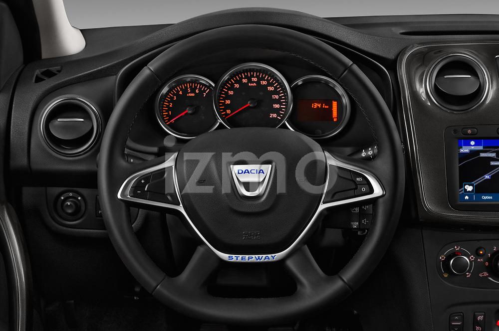 Car pictures of steering wheel view of a 2017 Dacia Sandero Stepway 5 Door Hatchback Steering Wheel