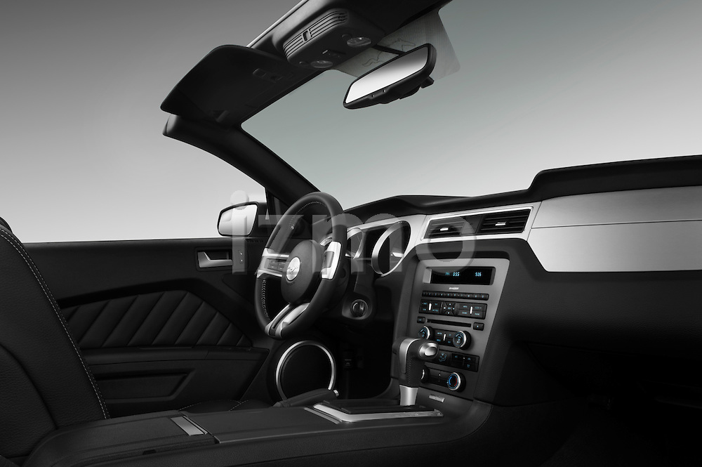 Passenger dashboard view of a 2011 ford mustang gt premium convertible .