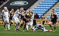 Photo: Richard Lane/Richard Lane Photography. Wasps v Newcastle Falcons. Aviva Premiership. 06/02/2016. Wasps' Jake Cooper-Woolley attacks.