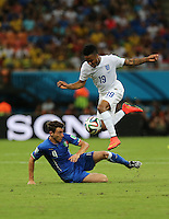 "England""s Raheem Sterling Beats Italy's Matteo Darmian"