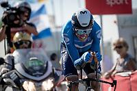 Enric Mas (ESP/Movistar)<br /> <br /> Stage 20 (ITT) from Libourne to Saint-Émilion (30.8km)<br /> 108th Tour de France 2021 (2.UWT)<br /> <br /> ©kramon