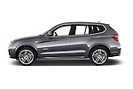 Car Driver side profile view of a 2017 BMW X3 xDrive28d 5 Door SUV Side View