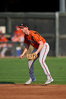 Bowie Baysox shortstop Jordan Westburg (27) during a game against the Harrisburg Senators on September 8, 2021 at FNB Field in Harrisburg, Pennsylvania.  (Mike Janes/Four Seam Images)
