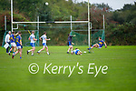 Glenflesks Ian Roche in mid after after send the ball over for a score against Castleisland Desmonds in the Intermediate Football Club Championship