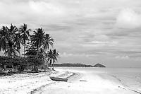 Dinghy ashore on Chilli Beach, Iron Range National Park, Queensland