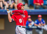 3 March 2016: Washington Nationals infielder Danny Espinosa in action during a Spring Training pre-season game against the New York Mets at Space Coast Stadium in Viera, Florida. The Nationals defeated the Mets 9-4 in Grapefruit League play. Mandatory Credit: Ed Wolfstein Photo *** RAW (NEF) Image File Available ***