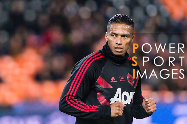 Antonio Valencia of Manchester United warming up during the UEFA Champions League 2018-19 match between Valencia CF and Manchester United at Estadio de Mestalla on December 12 2018 in Valencia, Spain. Photo by Maria Jose Segovia Carmona / Power Sport Images