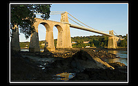 Menai Suspension Bridge (1819 -1826) Island of Anglesey - North Wales - 8th September 2006