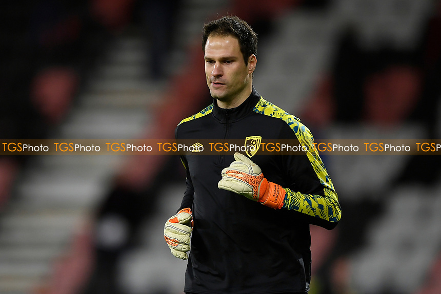 Asmir Begovic of AFC Bournemouth during AFC Bournemouth vs Wycombe Wanderers, Sky Bet EFL Championship Football at the Vitality Stadium on 15th December 2020