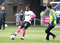 1st May 2021; Liberty Stadium, Swansea, Glamorgan, Wales; English Football League Championship Football, Swansea City versus Derby County; Nathan Byrne of Derby County warms up before the game