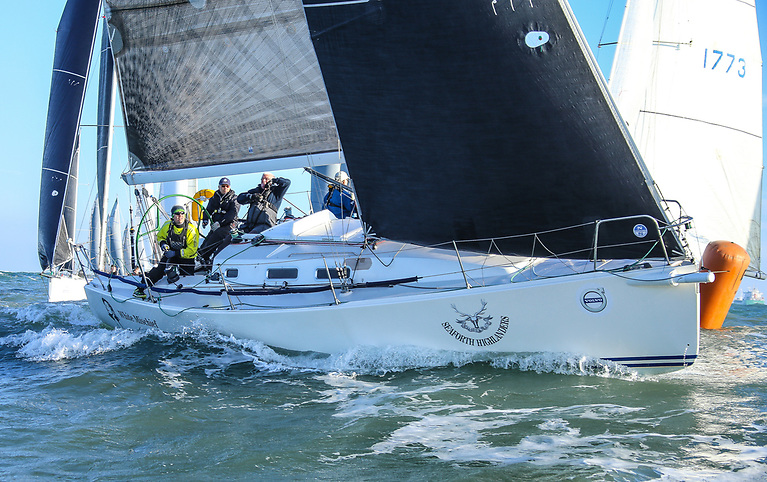 Cruiser 1 IRC and J/109 entry White Mischief (Tim and Richard Goodbody) is one of 12 class leaders that cannot be caught in the overall Thursday DBSC AIB Summer Series