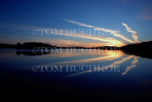 Sunset on Lake Medora in Keweenaw County, in the Upper Peninsula of Michigan.