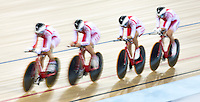 05 DEC 2014 - STRATFORD, LONDON, GBR - The team from Poland (POL) race around the track during qualifying for the Women's Team Pursuit at the 2014 UCI Track Cycling World Cup at the Lee Valley Velo Park in Stratford, London, Great Britain (PHOTO COPYRIGHT © 2014 NIGEL FARROW, ALL RIGHTS RESERVED)