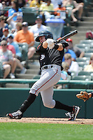 Richmond Flying Squirrels outfielder Brett Krill (33) during game against the Trenton Thunder at ARM & HAMMER Park on June 9 2013 in Trenton, NJ.  Trenton defeated Richmond 3-2.  Tomasso DeRosa/Four Seam Images