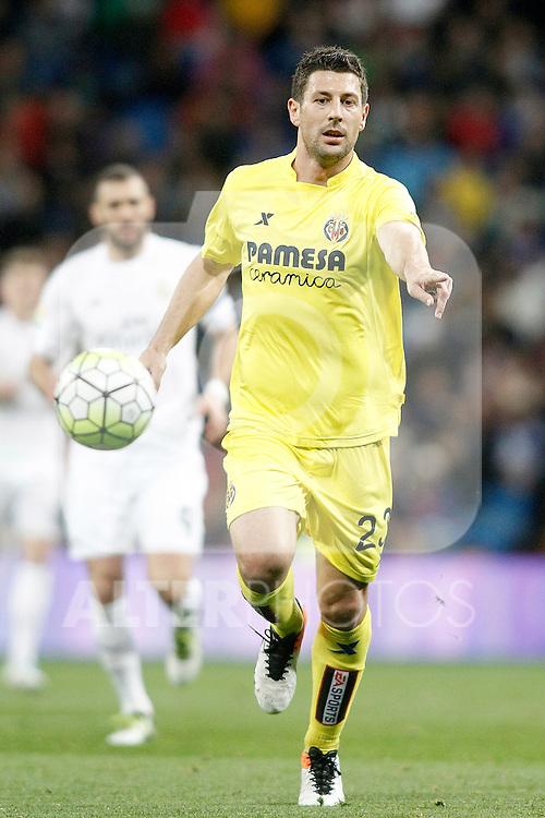Villareal's Daniele Bonera during La Liga match. April 20,2016. (ALTERPHOTOS/Acero)