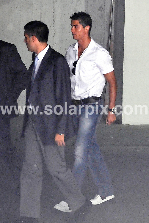 **ALL ROUND EXCLUSIVE PICTURES FROM SOLARPIX.COM**.**SYNDICATION RIGHTS FOR UK ONLY**.Real Madrid Footballer Cristiano Ronaldo was seen shopping for a new car yesterday in Madrid..He was negotiating for a new Black £160000.00 Lamborghini Gallardo Coupe.Strangely enough called the same name as his ex girlfriend Nareida Gallardo.Maybe he needs something to remind him of her or is it just a better replacement ?..This pic:Cristiano Ronaldo at the Lamborghinni showroom..JOB REF: 9816      SPA     DATE:26.08.09.**MUST CREDIT SOLARPIX.COM OR DOUBLE FEE WILL BE CHARGED**.**MUST AGREE FEE BEFORE ONLINE USAGE**.**CALL US ON: +34 952 811 768 or LOW RATE FROM UK 0844 617 7637**