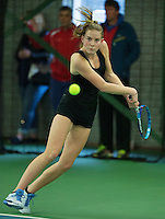 Rotterdam, The Netherlands, March 18, 2016,  TV Victoria, NOJK 14/18 years, Fleur Eggink (NED)<br /> Photo: Tennisimages/Henk Koster