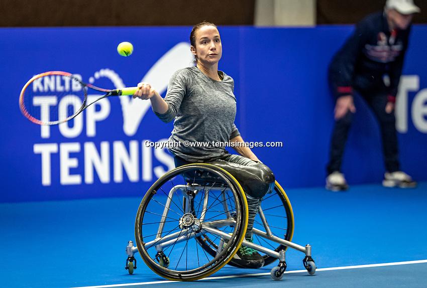Alphen aan den Rijn, Netherlands, December 18, 2019, TV Nieuwe Sloot,  NK Tennis, Wheelchair woman's, <br /> Jiske Griffioen (NED)<br /> Photo: www.tennisimages.com/Henk Koster