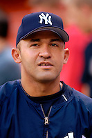 16 June 2006: Miguel Cairo, shortstop for the New York Yankees, awaits his turn in the batting cage prior to a game against the Washington Nationals at RFK Stadium, in Washington, DC. The Yankees defeated the Nationals 7-5 in the first meeting of the two franchises...Mandatory Photo Credit: Ed Wolfstein Photo...