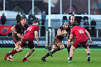 Ollie Griffiths of Dragons in action during the Guinness Pro14 Round 14 match between the Dragons and Munster Rugby at Rodney Parade in Newport, Wales, UK.  Saturday 26 January  2019