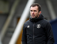 20th March 2021; Deepdale Stadium, Preston, Lancashire, England; English Football League Championship Football, Preston North End versus Luton Town; Luton Town manager Nathan Jones follows the action from the touchline