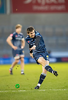 27th December 2020; AJ Bell Stadium, Salford, Lancashire, England; English Premiership Rugby, Sale Sharks versus Wasps; AJ MacGinty of Sale Sharks kicks a penalty for Sale to make the score 13-10