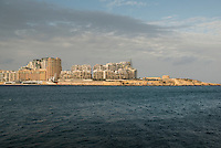 Malta, 28 December 2014<br /> <br /> <br /> Marsamxett Harbour and the new appartments being built at Tigne Point, just opposite the capital Valetta.<br /> <br /> Photo kees Metselaar