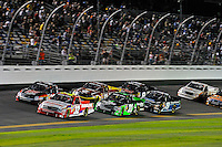Miguel Paludo (#32), Cale Gale (#33), James Buescher (#31), Todd Bodine (#11), Brad Keselowski (#19) and Mike Skinner (#8)