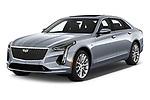 2019 Cadillac CT6 Premium-Luxury 4 Door Sedan Angular Front automotive stock photos of front three quarter view