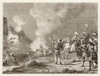 MOROCCO - Abu-Yusuf Sultan use gunpowder to bombard Sidi- Mesa. / Merveilles de la Science Figuier. / 1273