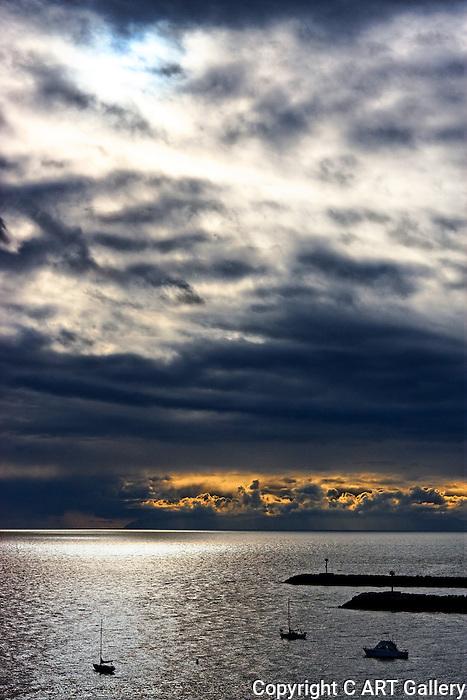 Post storm, Corona del Mar, CA.
