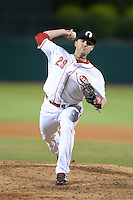 Glendale Desert Dogs pitcher Drew Hayes (29), of the Cincinnati Reds organization, during an Arizona Fall League game against the Salt River Rafters on October 16, 2013 at Camelback Ranch in Phoenix, Arizona.  Glendale defeated Salt River 8-6.  (Mike Janes/Four Seam Images)