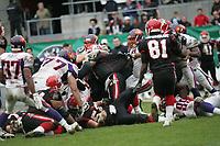 Shane Boyd (Quarterback COlogne Centurions) wird gestoppt