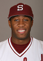 STANFORD, CA - JANUARY 7:  Wande Olabisi of the Stanford Cardinal baseball team poses for a headshot on January 7, 2009 in Stanford, California.