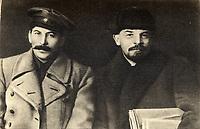 Vladimir Lenin and Joseph Stalin, March 1919 file photo