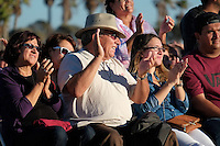 """""""I Heart Ventura County"""" is a community event sponsored by Life Without Limbs in partnership with ACTION, City Impact, local churches, agencies, schools and government officials. The goal of IHVC is to facilitate positive change through days of volunteer service and dynamic community events, and culminates in a Community Gathering and revival at Seaside Park (Ventura County Fairgrounds).The main speaker at all the events is Nick Vujicic who was born Australia without arms and legs. He spoke to local high schools about bullying and self worth, visited the Church in the Park at Lions Park in Oxnard, CA and ended the evening with two speaking engagements at The Ventura County Fairgrounds . Photographs by ©Anacleto Rapping"""