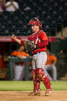 AZL Angels catcher Connor Fitzsimons (6) on defense during a game against the AZL Giants on July 9, 2017 at Diablo Stadium in Tempe, Arizona. AZL Giants defeated the AZL Angels 8-4. (Zachary Lucy/Four Seam Images)