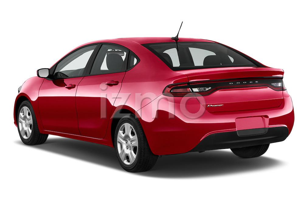 Car pictures of rear three quarter view of a 2015 Dodge Dart SE 4 Door Sedan Angular Rear
