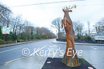 Stag sculpture on Mission Road