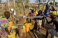 ETHIOPIA Gambela, hand pump set for water supply in village / AETHIOPIEN Gambela, Handpumpe fuer Trinkwasser Versorgung im Dorf