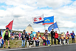 Fans wait at the roadside for the race during Stage 1 of the 2018 Artic Race of Norway, running 184km from Vadso to Kirkenes, Norway. 16th August 2018. <br /> <br /> Picture: ASO/Gautier Demouveaux | Cyclefile<br /> All photos usage must carry mandatory copyright credit (© Cyclefile | ASO/Gautier Demouveaux)